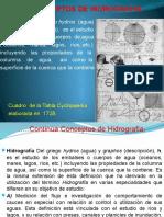 1.1. Conceptos de Hidrografia.