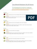 Calendario Frutta Verdura