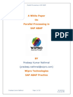 White Paper on Parallel Processing in SAP ABAP