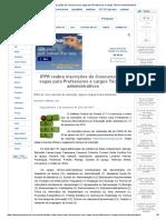 IFPR Reabre Inscrições Do Concurso Com Vagas Para Professores e Cargos Técnico-Administrativos
