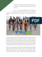 Judi Online Cycling Di Situs Website Judi Bola Sbobet
