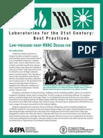 Low-Pressure-Drop HVAC Design for Laboratories