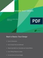 Back to Basics - Duct Design