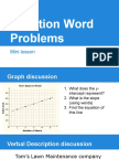 function word problems  goes with worksheet