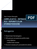Complicatii Intracerebrale Dupa Supuratii Otice