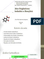 Ácidos Orgânicos - Aula I