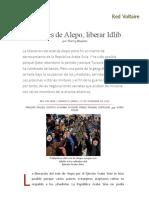 Después de Alepo, Liberar Idlib, Por Thierry Meyssan