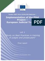 European Judicial Training Best Practices in Training 2014