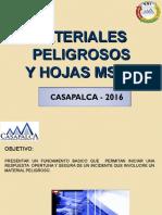 Materiales Peligrosos y Hojas Msds