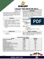 HT-Max Raloy Diesel Genuine SAE 10W-40 MB 228 51 (3)