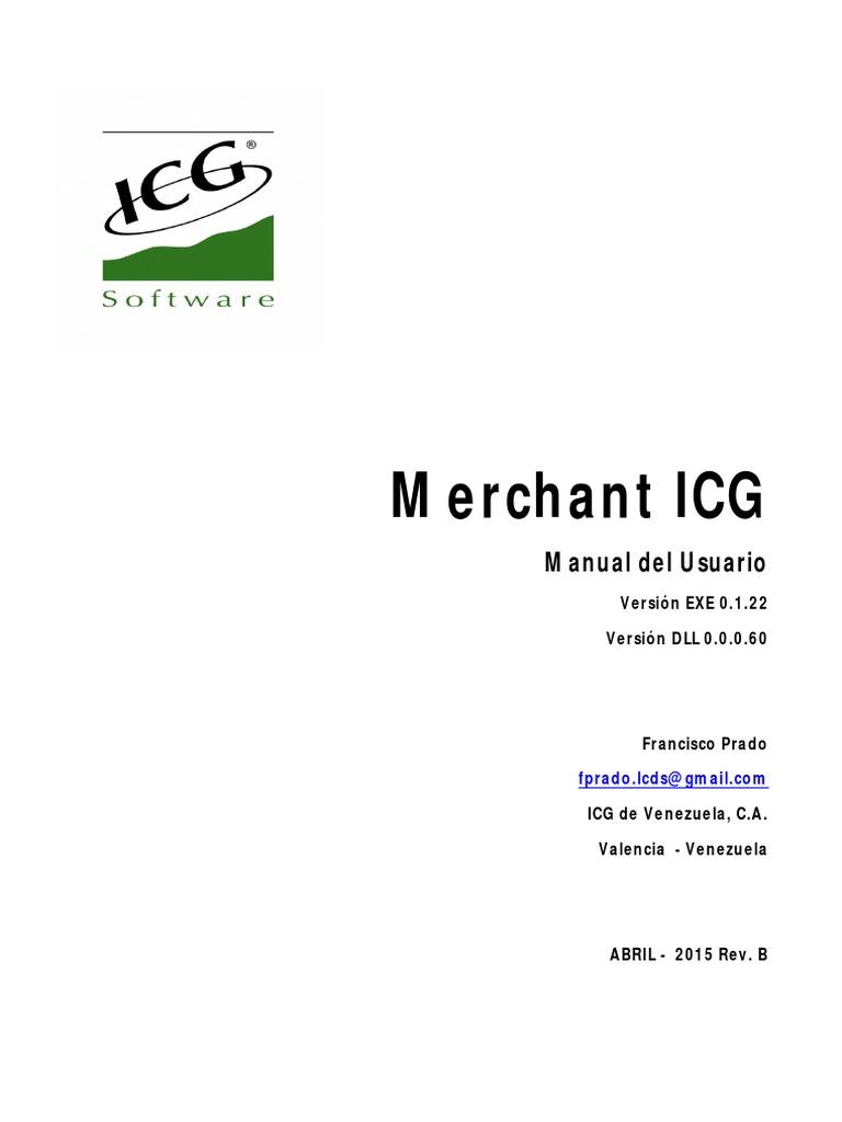 Merchant ICG Manual Usuario