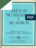 Lara Peinado, Federico - Mitos Sumerios y Acadios