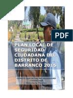Plan Distrital de Seguridad Ciudadana Barranco 21-02-2015