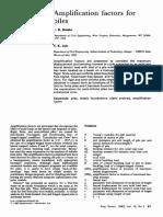 Amplification Factors for Piles 1993