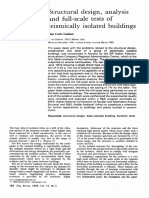 Structural Design, Analysis and Full Scale Tests of Seismically Isolated Buildings 1993