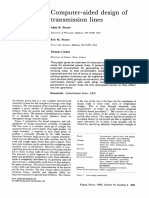 Computer Aided Design of Transmission Lines 1993