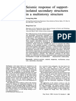 Seismic Response of Support Isolated Secondary Structures in a Multistorey Structure 1993