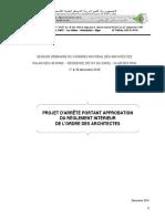 Projet d'Arrêté Portant Réglement Intérieur (1)