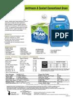 PEAK Conventional Green Spec Sheet