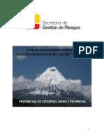 Plan de Contingencia Nacional Amenaza de Erupcion Del Volcan Cotopaxi Provincias de Cotopaxi Napo y Pichincha