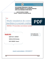 Etude Simulation de Convertisseur Machines à Courant Continu