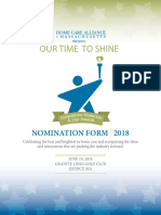 2018 Star Awards Nomination Form