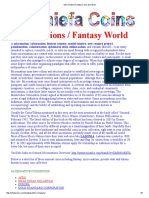 Catalog of Micro-Nation Fantasy Coins and Tokens