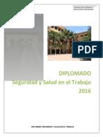Estructura Diplomado Seguridad y Salud en El Trabajo 2016