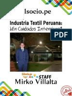 Industria Textil Peruana en Cuidados Intensivos