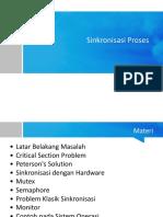 Sistem Operasi Part 6 Sinkronisasi Proses