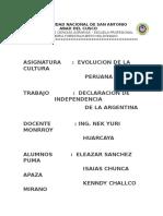 Idependencia de La Argentina