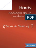 Apologia de Un Matematico