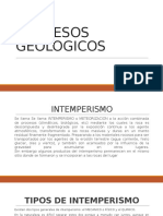PROCESOS GEOLOGICOS PRESENTACION