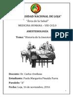 Historia de La Anestesiología