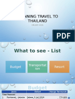 Planning Travel to Thailand