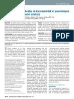 Plasma Cotinine Indicates an Increased Risk of Preeclampsia