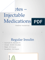 Diabetes Injectables
