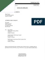Commissioner Conway Notice of Claim - Undated