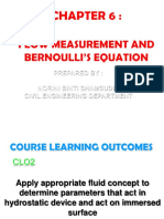 Chapter 6 Flow Measurement and Bernoulli Equation