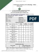2nd Sem Date Sheet
