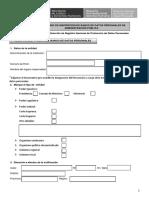 Formulario de Registro Entidad Publica