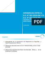 Diferencias Del DS N 055-2010-EM y El DS N 024-2016-EM