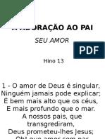 013 - Adoração Ao Pai-seu Amor