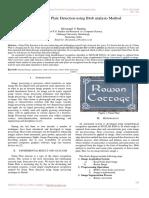 Study of Name Plate Detection using Blob analysis Method
