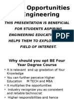 Career Opportunity in Engineering