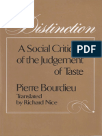 Pierre Bourdieu Distinction a Social Critique of the Judgement of Taste 1984