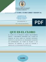 Demanda Del Cloro
