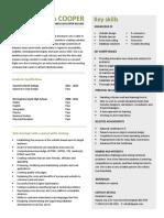 Entry Level Web Designer Resume Free PDF