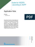 1CM72_Operation Guide for HSDPA Test Setup According to 3GPP TS 34.121