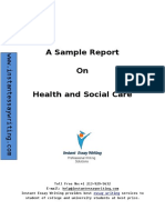 Sample Report on health and social care